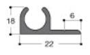 Klämskyddsskena Lyon, 1m, 2 st