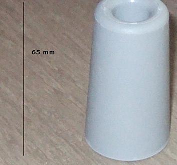 DÖRRSTOPP GUMMI FÖR GOLVMONTAGE  65 mm